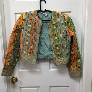Vintage jewel jacket - size 8